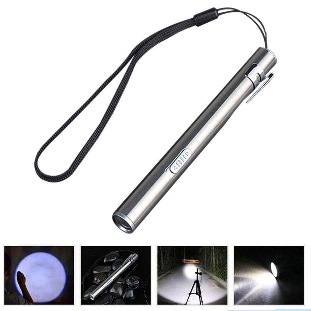 BuyInBulk Usb Mini Rechargeable Flashlight,Stainless Steel Pen Lamp,Led Penlight,Waterproof Pocket
