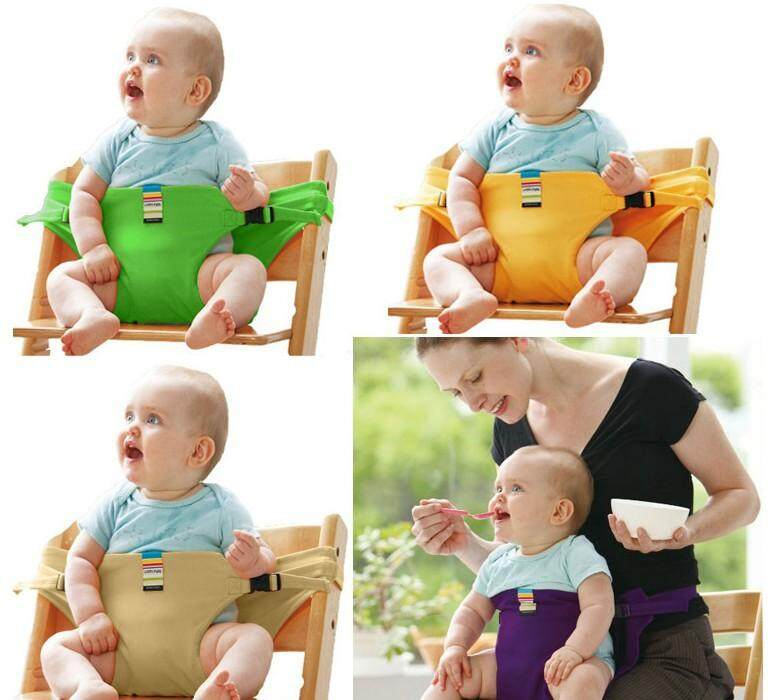 welovestore TAF TOYS Baby Dining Belt Portable Child Seat Baby BB Chair / Security Belt Patent With Child Safety Products Baby Furniture Locks Children Blue Powder Open Coins Baby Protection - intl