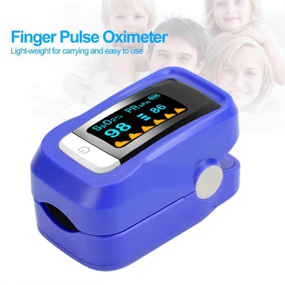 6 Colors Fingertip Pulse Oximeter Blood Oxygen SpO2 Saturation Monitor With  Carrying Lanyard - intl