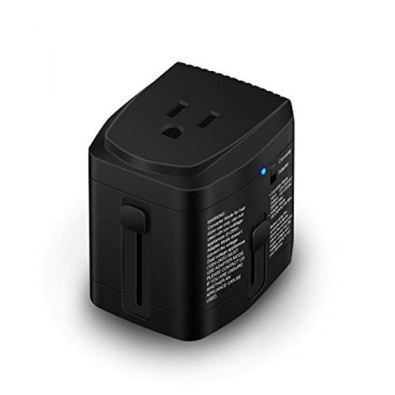 ALL IN ONE World Travel Plug Power Adapter 2000 Watts Voltage Converter Step Down 220V to 110V for Hair Dryer Steam Iron Laptop MacBook Cell Phone - US to UK AU Europe Over 150 Countries - intl