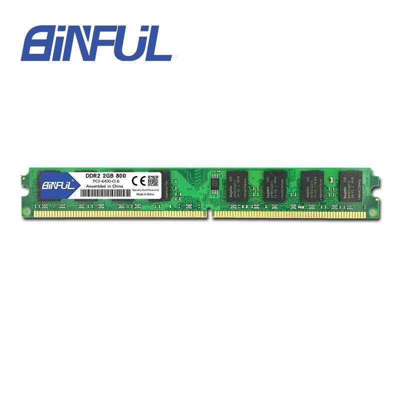 BINFUL Original New Brand DDR2 2GB 800Mhz PC2-6400 for desktop RAM Memory
