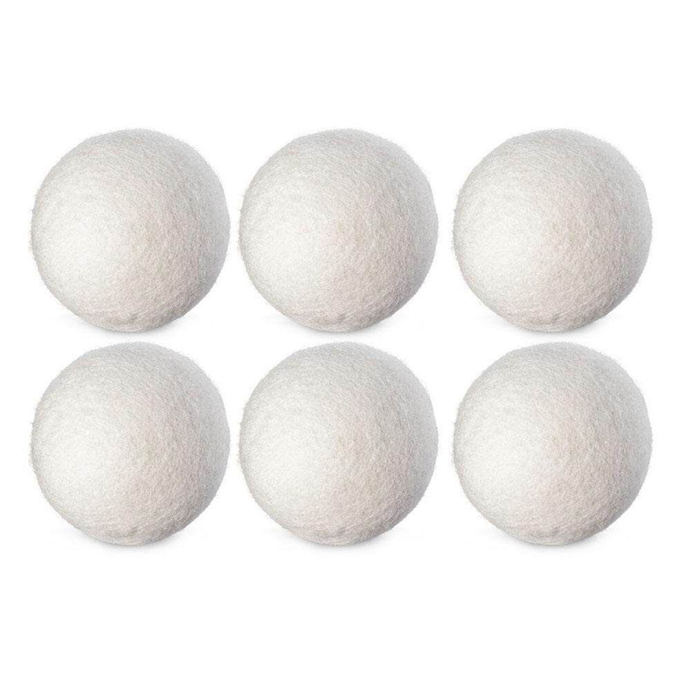 huaxian 6Pcs/SET Natural Reusable Laundry Clean Ball Practical Home Wool Dryer Balls - intl