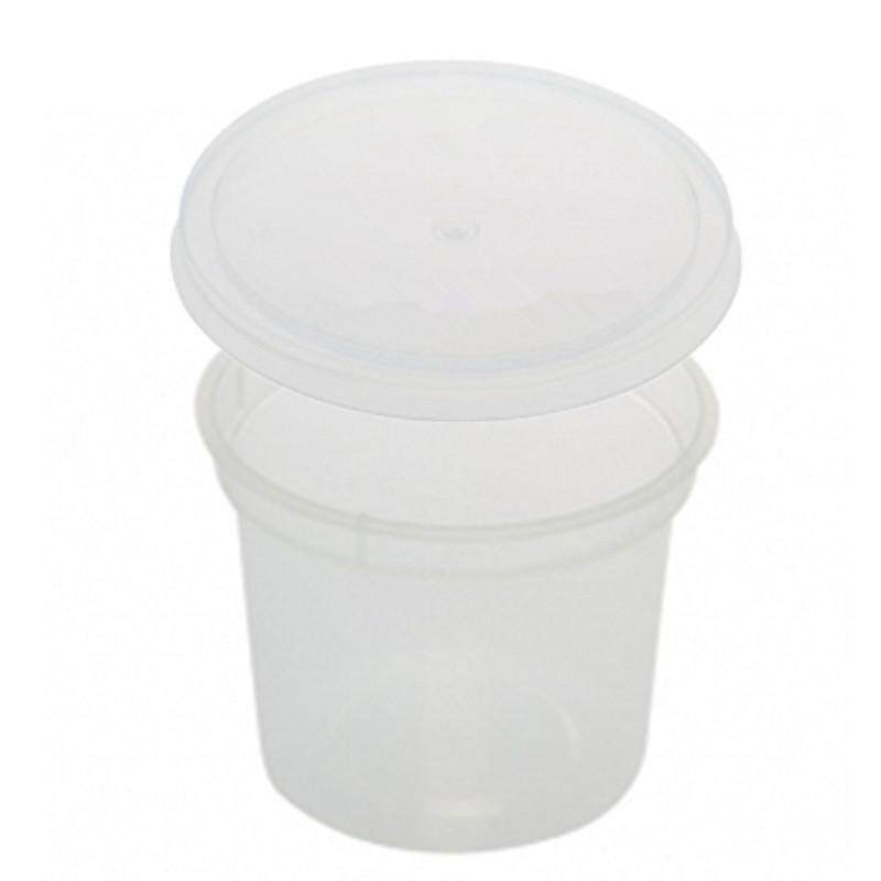 150ml PP Microwavable Round Containers With Lids Clear 10pcs