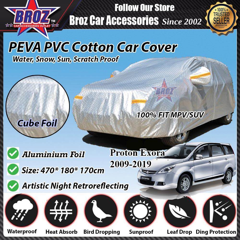 Proton Exora Car Body Cover PEVA PVC Cotton Aluminium Foil Double Layers - MPV