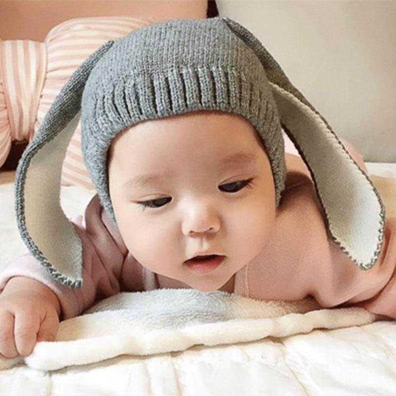 Giá bán LS Unisex Children Knitted Hat Creative Fashion Rabbit Ears Modeling Woolen Cap