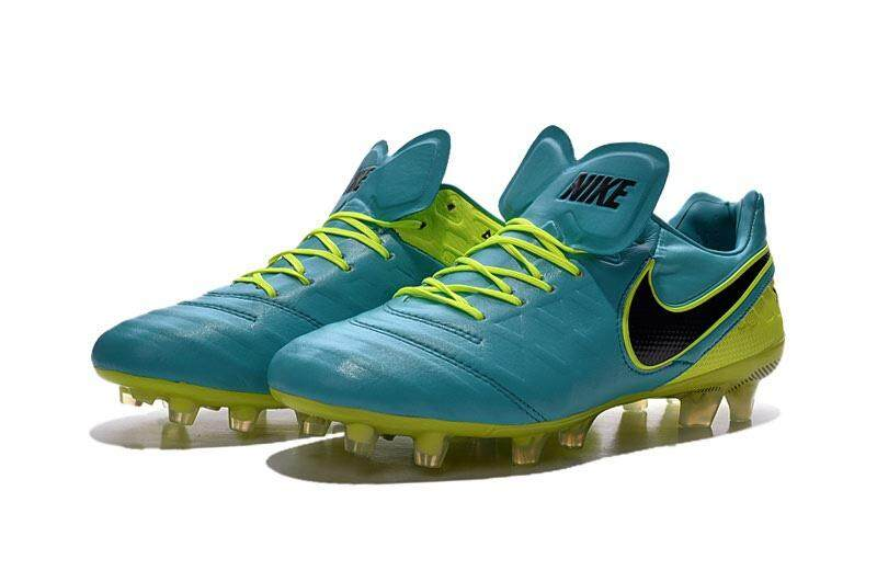Timed Promotions Lace-up Football Shoes Tiempo.Legend VI 6th FG Soccer Mens Size 39-45 Outdoor Football Sneakers (Green/Black/Yellow) - intl