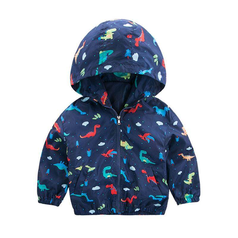 b05d8a6e Fashion Light Jacket Kids Boys Dinosaurs Pattern Hoodie Jacket Toddler  Hooded Coat Zipper Casual Tops Outerwear