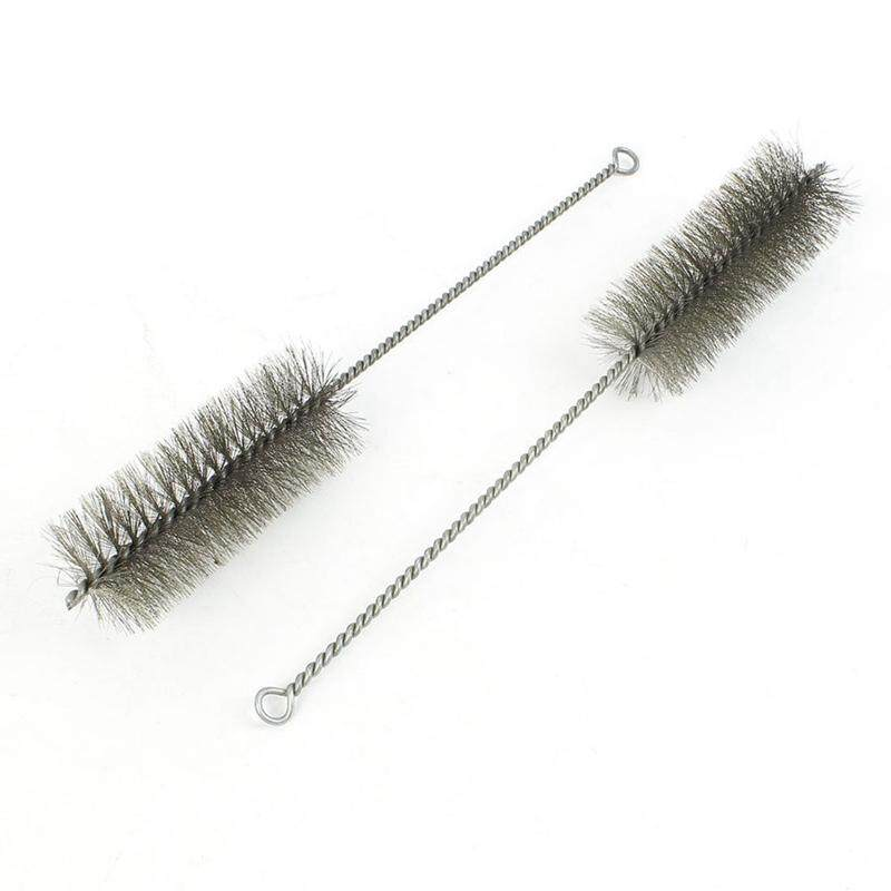 2pcs 30cm Long 50mm Diameter Stainless Steel Wire Tube Cleaning Brush By Greatbuy888.