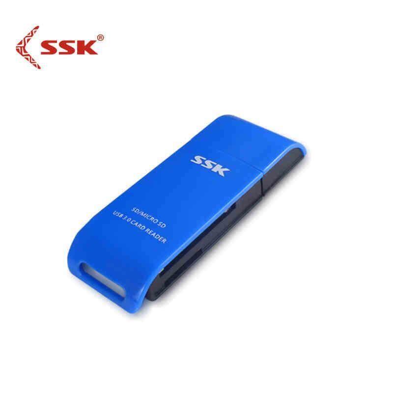 Chính hãng SSK 331 Mini Cao cấp USB3.0 Đầu Đọc Thẻ 2 Trong 1 Thẻ TF SD Thẻ Adapter Đầu Đọc