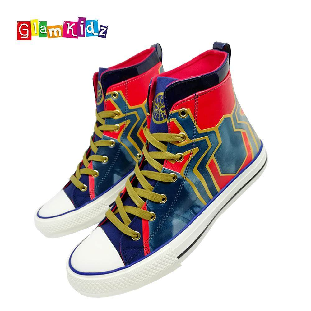 GlamKidz Avengers Infinity War Iron Spider High Top Fashion Canvas Shoes