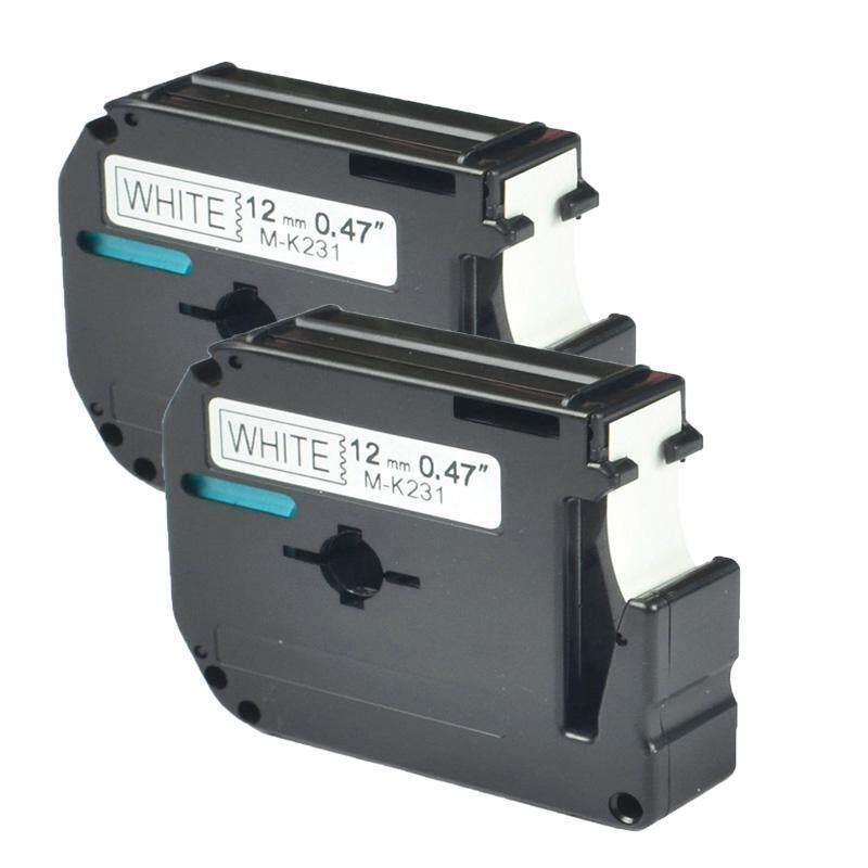 Mua Ishowmall 2Pcs Set Black on White 12 mm Label Tape For Brother P-touch MK M-k231 MK-231