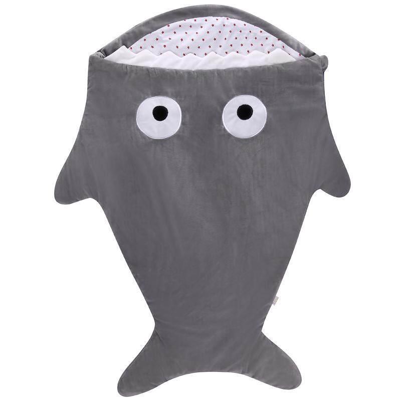 Hình ảnh Vigo Warm Winter Sweet Cartoon Shark Babies Sleep Bag Thick Infant Blanket - intl