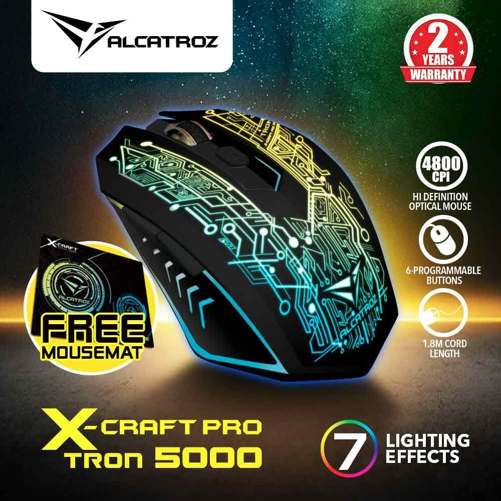 Alcatroz X-Craft Pro Tron 5000 (4800 CPI) Gaming Mouse Free Mousemat Malaysia