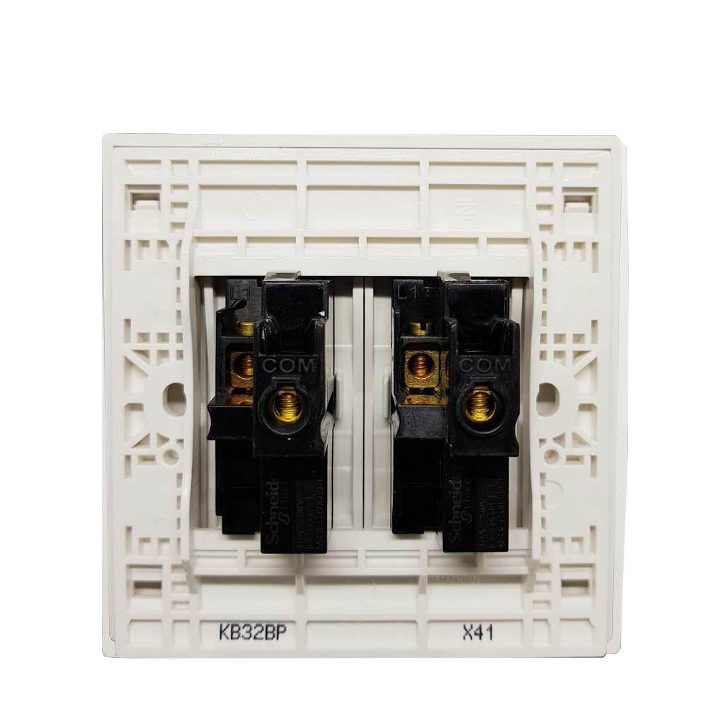 Mcb Schneider Electric 10a 1phase Domae Berkualitas Cek Harga Rcbo Slim 1p N Detail Gambar Vivace Kb32bp We G11 250v 2 Gang Press Switch White Terbaru