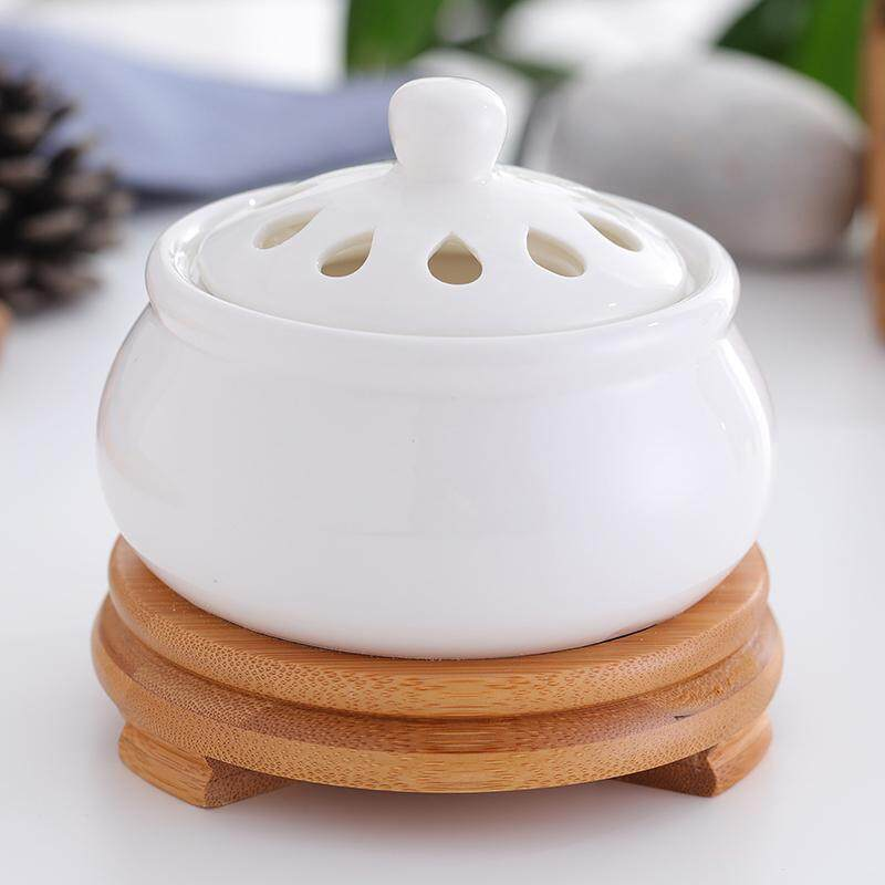 Timing Temperature Plug-in  Incense Burner Ceramic Fragrance Lamp Chinese Eaglewood Furnace Sandalwood Censer jing you deng Wood Dust Chip Household Cover