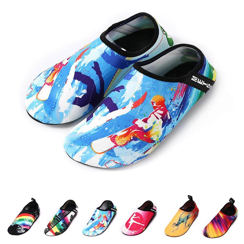 leegoal Beach Diving Shoes Swimming Shoes Barefoot Soft Bottom Patch Shoes Yoga Shoes - intl