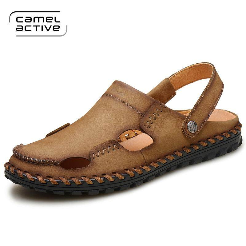 Fitur Camel Sepatu Pria 2018 Musim Panas Baru Bernapas Kulit Renda ... 865f8adf4a