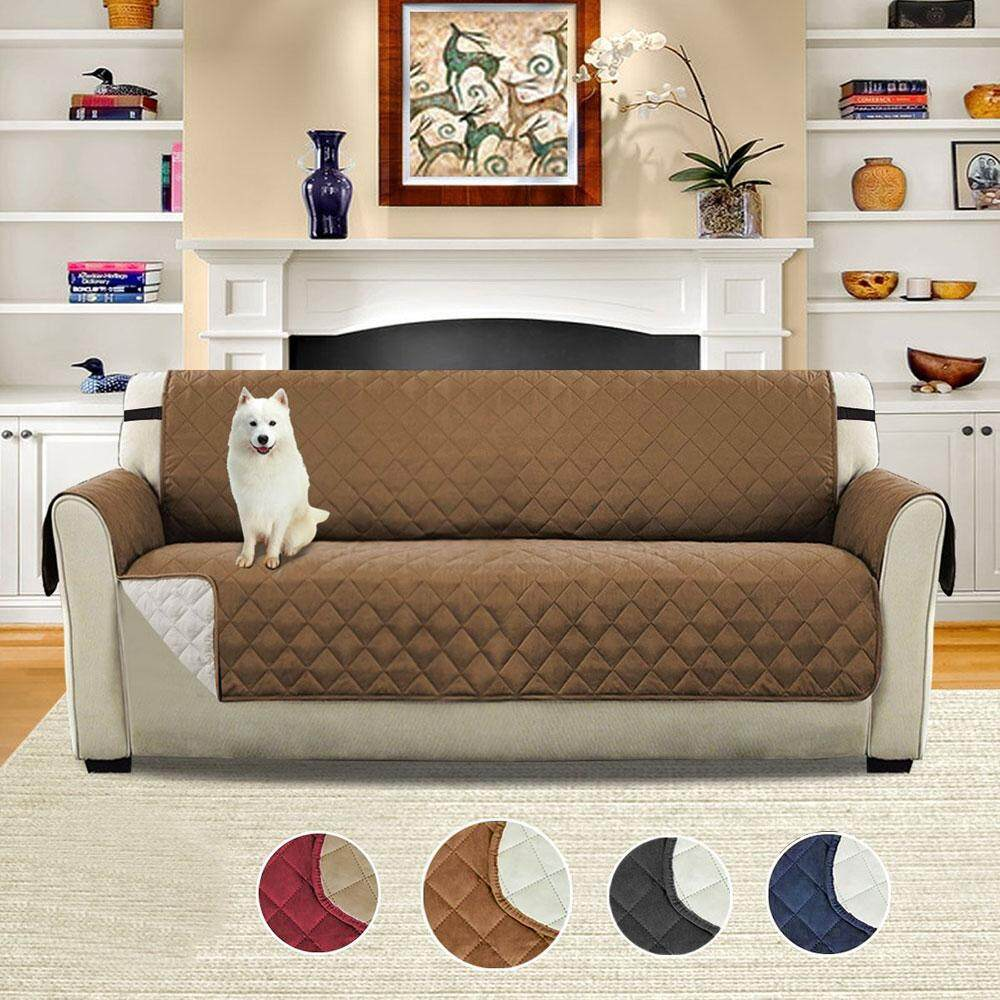 Eenten Three People Waterproof And Slippery Sofa Cushion Pet Protection Cover (Pongee + + PP Cotton Non-woven Fabric, Of Bangdai, 110x76inch)