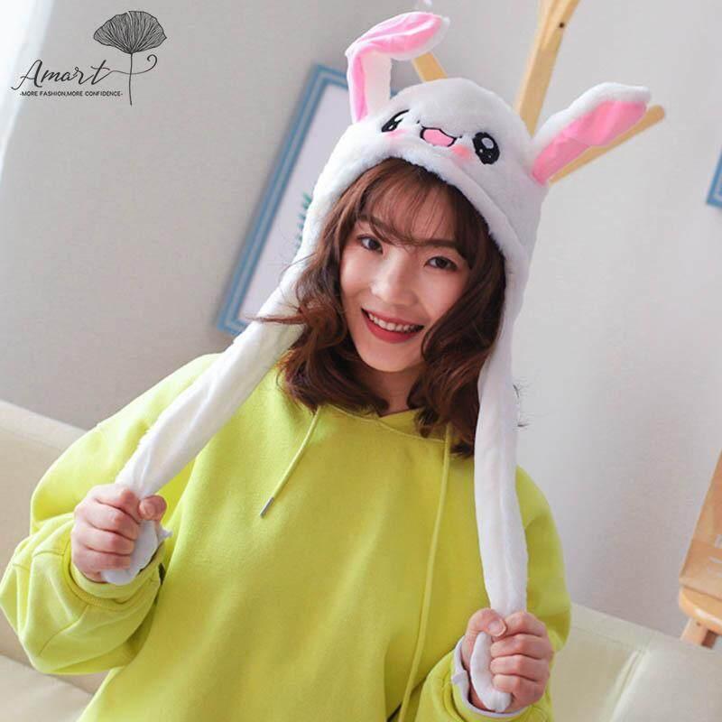 Amart Fashion Lucu Kelinci Mewah Topi Lucu Playtoy Telinga Up Down Kelinci  Hadiah Mainan untuk Anak 94e7b4778f
