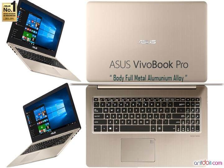 ASUS  VIVOBOOK PRO N580V-DE4578T (Ultra Slim, i5-7300HQ, 4GB DDR4, 1TB, GTX 1050 (4GB GDDR5), 15.6, Win 10, 1.99kg, Gold) Malaysia