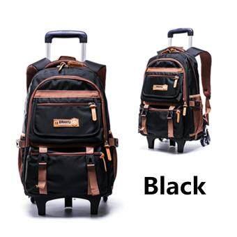 af30add2e33 การตรวจสอบของ Two Wheels Teenagers Student Handbag School Bag Trolley  Backpack Removable  2 wheel ซื้อ - มีเพียง ฿768.59