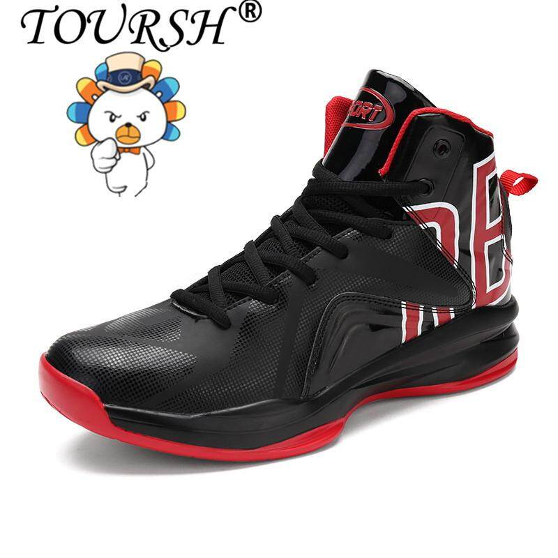 TOURSH Men's Basketball Shoes Rubber Basketball Boots Shock Absorption Breathable Shoes Athletic Sport Sneakers For Basketball