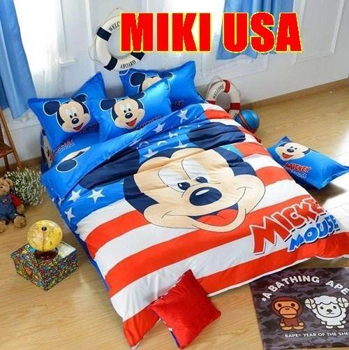 CARTOON BED SHEET MIKI 10 DESIGN (FITTED) King Size Bed (8 inch height)