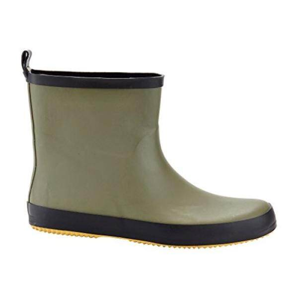 Solo Mens Ever Dry Low Cut Rubber Water Resistant Rain Boot Green 11 - intl