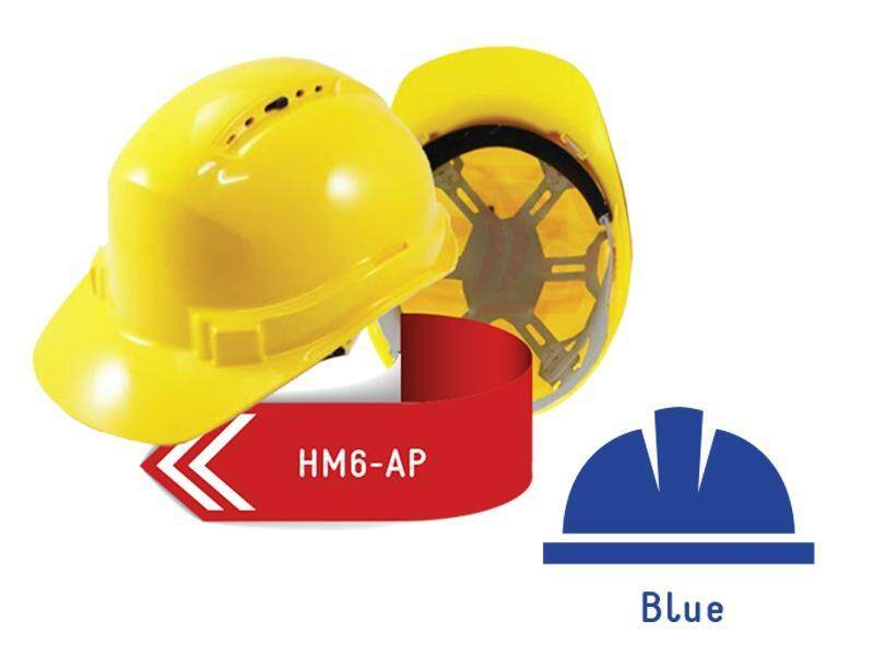 ISAF Industrial Safety Helmet c/w Pinlock, Sweatband & Chinstrap - Blue