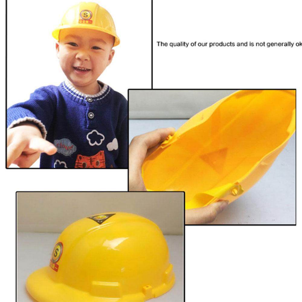 1PCS MayLer Store Plastic Yellow 20.5*7*9cm Children Safety Helmet Hat Role Playing