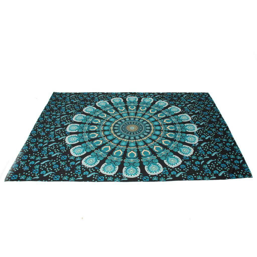 Fityle Bohemian Wall Tapestry Throw Blanket Rug Roundie Yoga Bed Mat Beach Towel #6