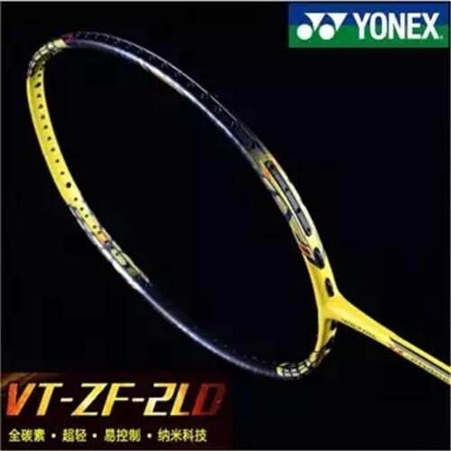(Free Tali dan Pegangan) YONEX VTZF-2LD Karbon Penuh Satu Raket Badminton-