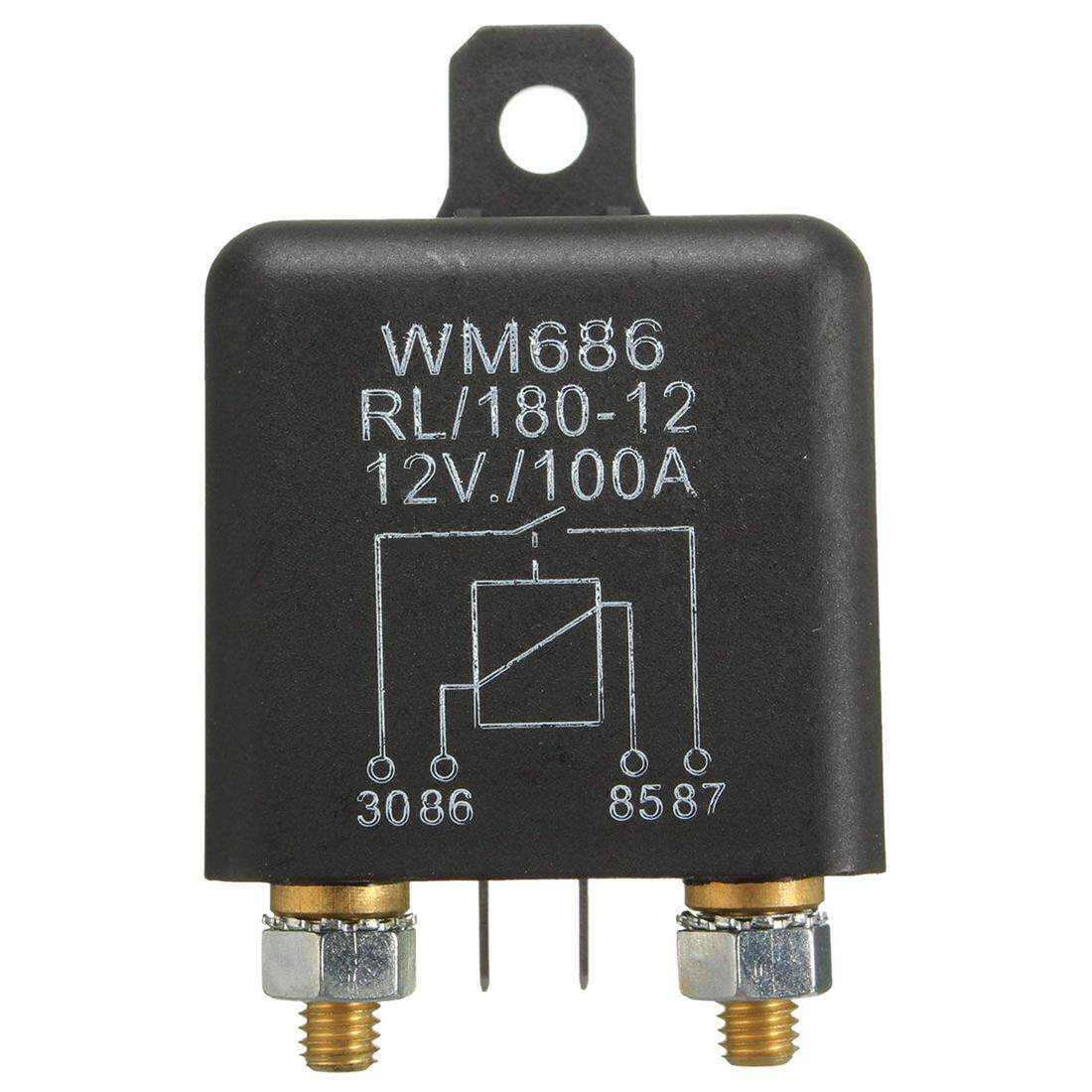 12v 100amp 4-Pin Heavy Duty On/off Switch Split Charge Relay For Auto Boat Van Black By Benefitwen.