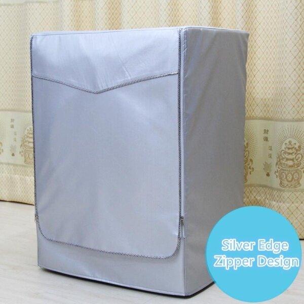 Vỏ Máy Giặt Chống Nắng Tại Nhà Giặt Máy Sấy Con Lăn Tuabin Tự Động Phủ Bạc Polyester Chống Bụi Trường Hợp Không Thấm Nước [S] -Silver Zipper S