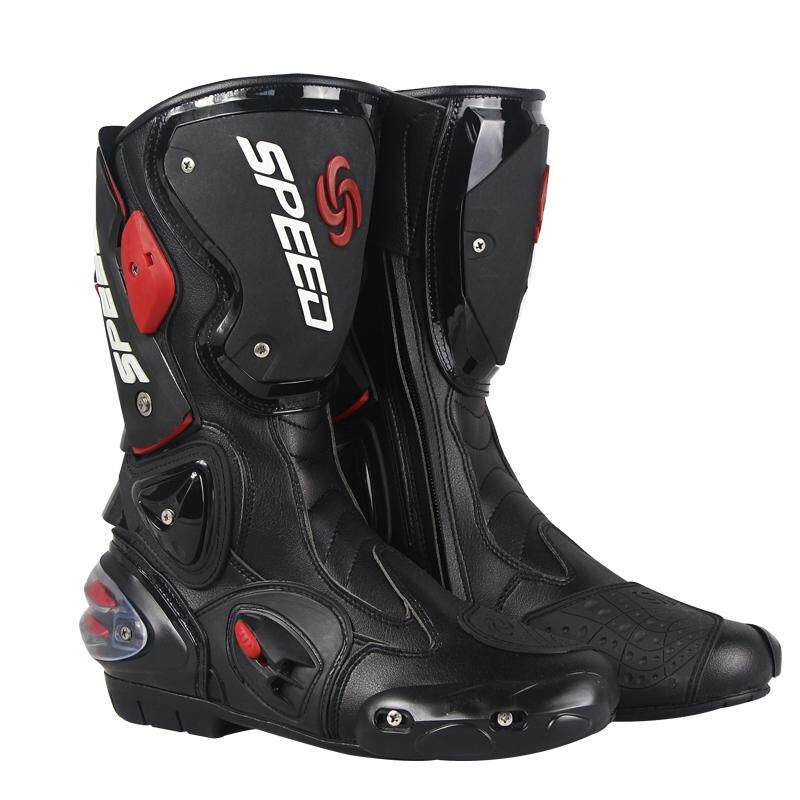 f6796e6280d 1 PAIR Pro-Biker Fiber Leather Motorcycle Off-Road Racing Boots (size