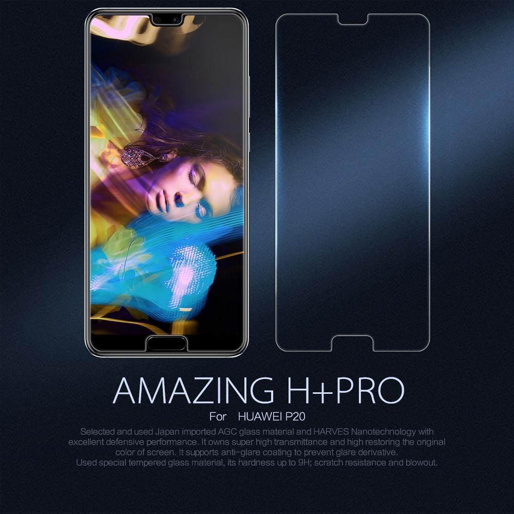 Top Brand Merek Kaca Tempered AGC Pelindung Layar untuk for Huawei P20 (Bening), premium Kualitas Tinggi Asli Ultra Tipis Potongan Pas Badan Lampu 9H HD Penjaga Film, anti-Explosion Anti-Knock Anti Pecah Anti-Glare Tahan