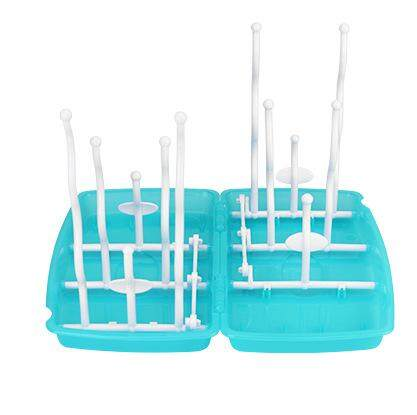 Baby bottle drying rack with 12 pegs Fordable, Travel Pack