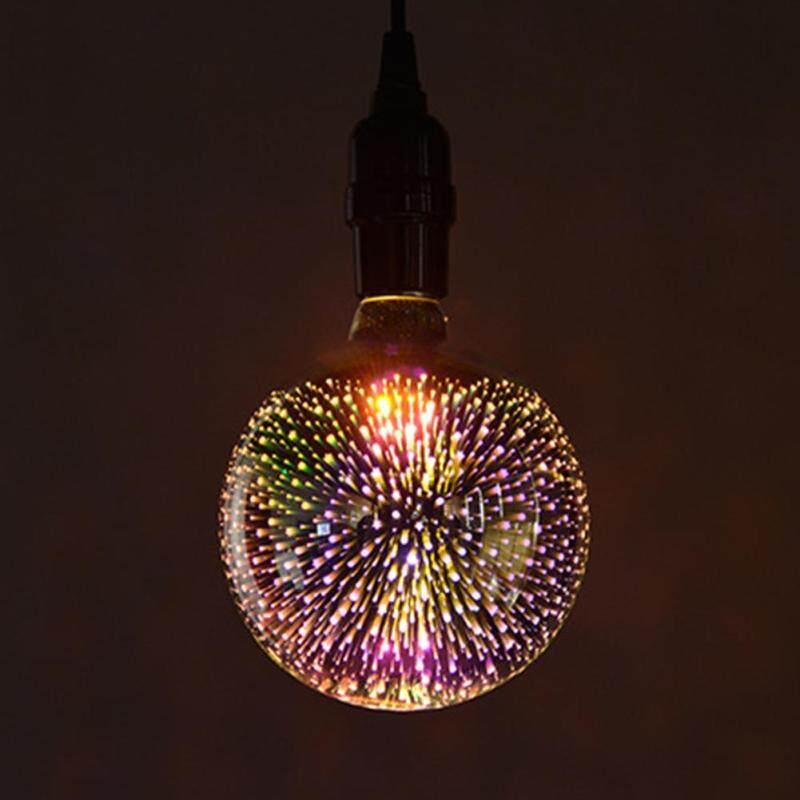 Bóng ĐÈN LED Pháo Hoa Nhiều Màu Sắc Vintage Bombillas Môi Trường Xung Quanh Chiếu Sáng 3D Kính G125