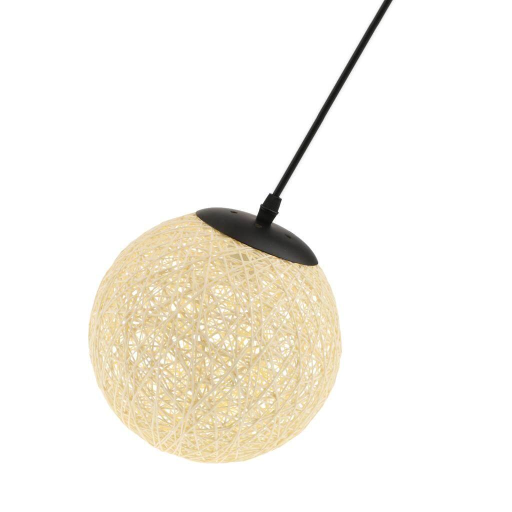 BolehDeals Rattan Wicker Woven Ball Globe Ceiling Pendant Light Lamp Shade 20cm beige