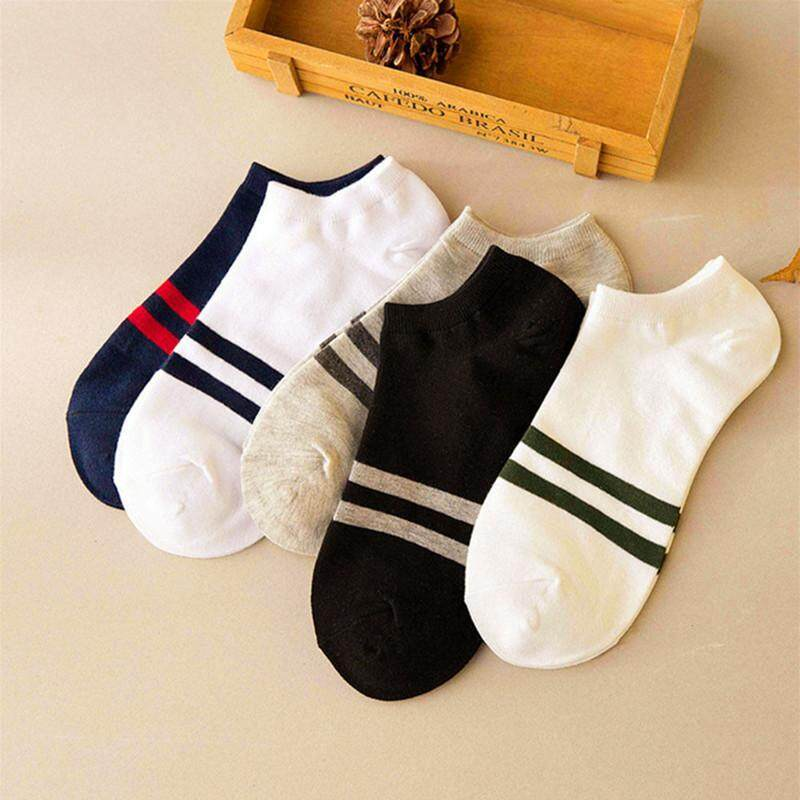 5 Pairs Mens Sports Socks Lot Crew Short Ankle Low Cut Casual Cotton Socks - Intl By The First Store.