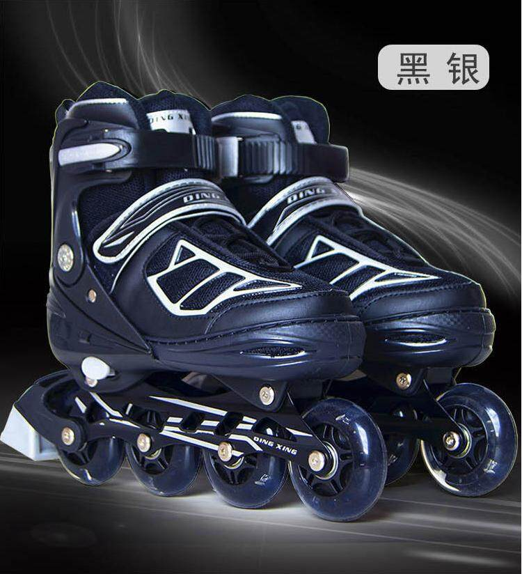 Adult Inline Skates College Students Professional Skates Children Adjustable Roller Skates By Baby 1 Plus 1 Store.