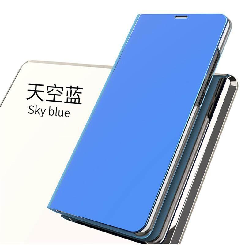 For Xiaomi Mi Max 3 Luxury Smart Plating Mirror View Flip Cover Case For  Xiaomi Mi Max3 Mirror Window Flip Stand Leather Case Cover 6 9inch 217515