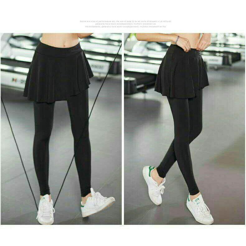 Korean style fitness sport skirt legging pant
