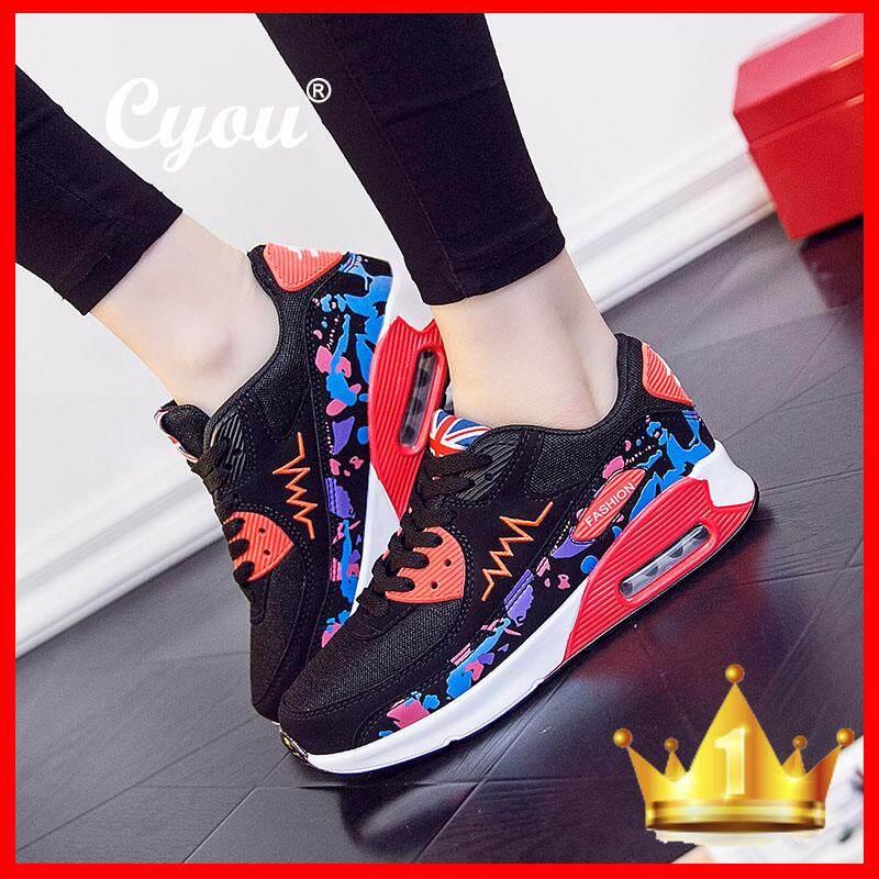 Cyou 2018 Penjualan Terlaris Sepatu Olahraga Wanita Bantal Udara Menjalankan  Outdoor Musim Panas Sneakers Pelatih Joging 263aa470ee