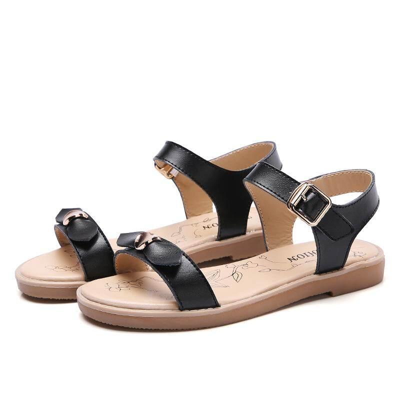 444eeaaa82 2018 New Spring Summer Women sandals female robe thick platform buckle with  Roman light Black sandals