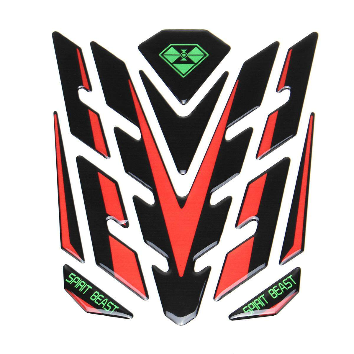 Spirit Beast Reflective 3D Motorcycle Sticker Moto Gas Fue l Tank Protector Pad Cover Decoration Decals