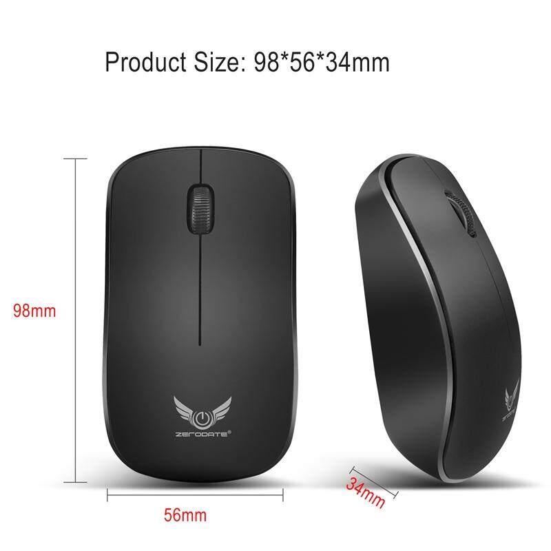 Hình ảnh Zerodate 2.4Ghz Wireless Mouse 1600DPI 3 Keys Gaming Mouse Ergonomic Optical Mouse for PC Laptop