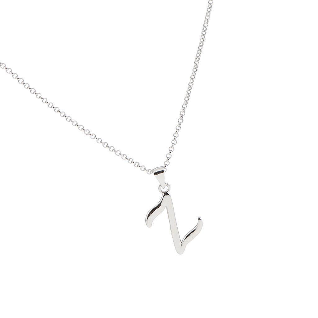 ... Bolehdeals A-Z Alphabet Fashion Liontin Huruf Inisial Kalung Rantai Perhiasan Z-Intl - 5