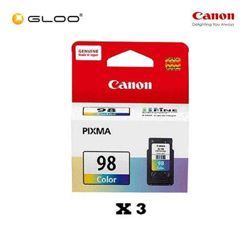 [Set of 3] Canon Ink Efficient CL-98 Ink Cartridge - TriColor
