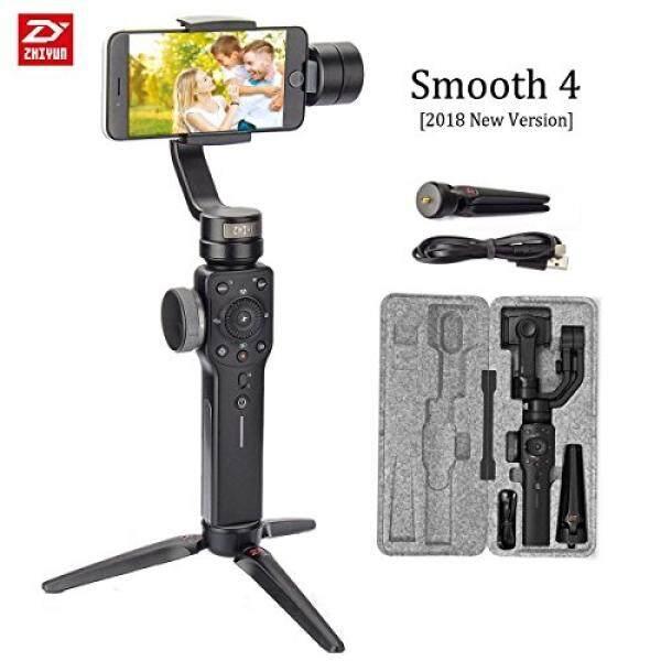 Zhiyun Halus 4 3-Axis Handheld Stabilizer Gimbal Upgrade Kamera Ponsel Video Ponsel Pembuat Film dengan Fokus Tarik & Zoom Vertigo tembakan untuk iPhone X 8 PLUS 7 6 SE Samsung Galaxy S9 + S9 S8 + S8 S7 GoPro.